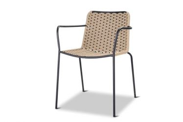 Poltroncina Cannes A Antracite Beige